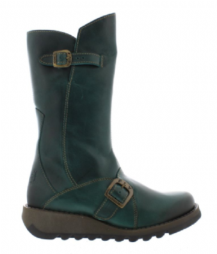 FLY London MES 2 Womens Petrol Leather Boots